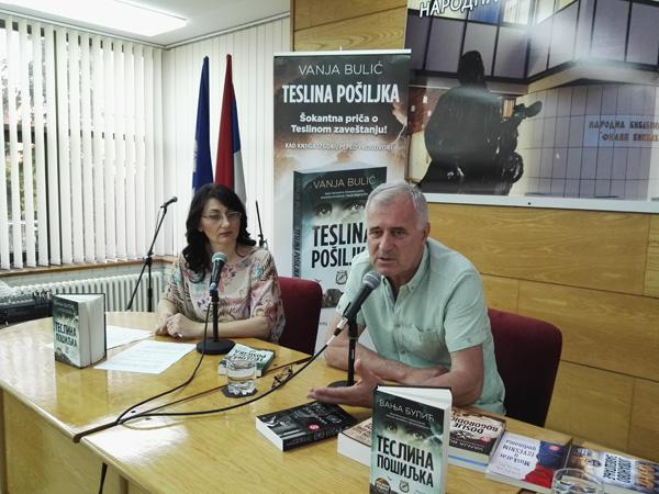 TESLINA POSILJKA VANJA BULIC knjiga 2015 istorijski triler nikola tesla srbija